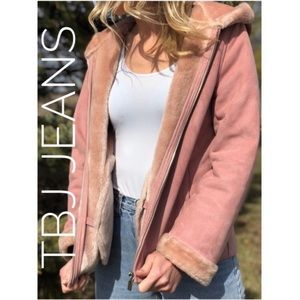 TBJ Jeans Pink Fur Coat